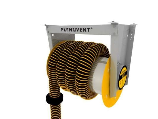 Plymovent spring-operated hose reel (SER)