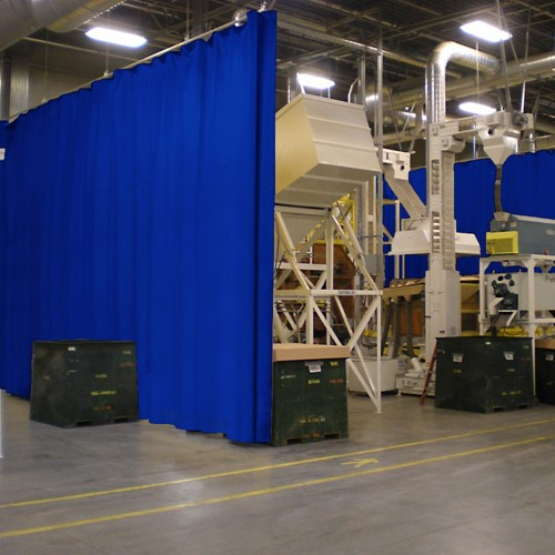 Industrial Partition Usda Grade Curtain Wall Hastings Air